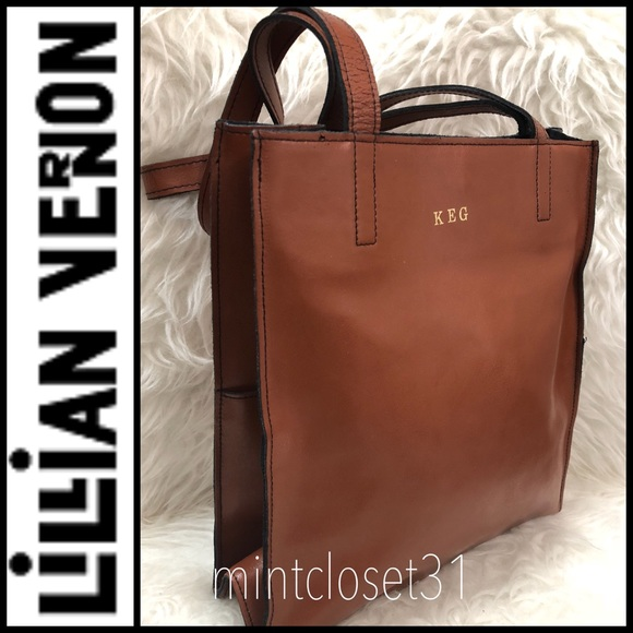 4c0aaaf27a9c Lillian Vernon Leather Tote Bag